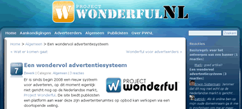 Site: Project Wonderful NL