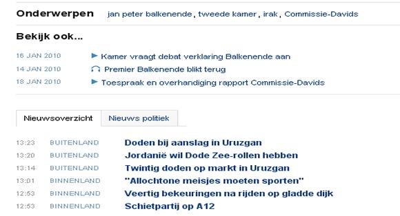 Toekomst fragmenten op NOS.nl